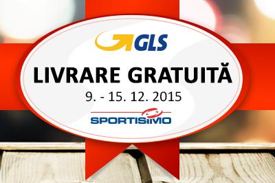 TRANSPORT GRATUIT ÎN PERIOADA 9. – 15. 12. 2015 Un cadou de crăciun de la GLS și Sportisimo!