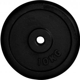 Fitforce DISC GREUTATE 10KG NEGRU 30MM - Disc greutate