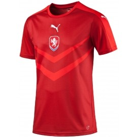 Puma CZECH REPUBLIC HOME REPLICA B2B SHIRT CHILI - Copie tricou de fotbal