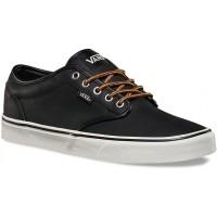 Vans ATWOOD (Leather) Black/Marshmallow - Teniși bărbați