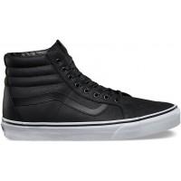 Vans U SK8-HI REISSUE (Premium Leather) Black/True white - Bascheți bărbați
