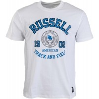 Russell Athletic CREW NECK TEE WITH ROSETTE PRINT