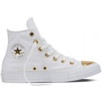 Converse CHUCK TAYLOR ALL STAR White/Gold - Teniși damă tip bascheți