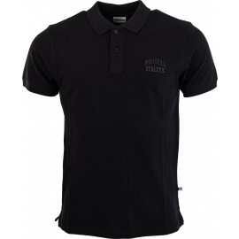 Russell Athletic CLASSIC POLO WITH INJECTION MOULD TONAL PRINT
