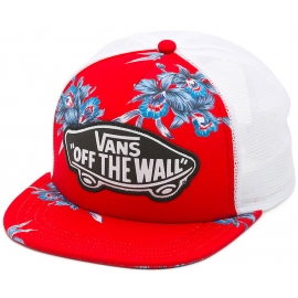 Vans BEACH GIRL TRUCKER HAT Tomato Hawaiian - Șapcă de damă