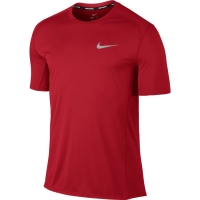 Nike NK DRY MILER TOP SS M - Top de alergare bărbați