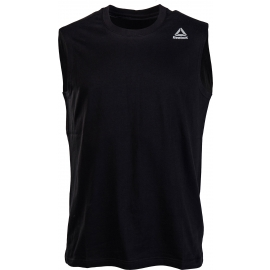 Reebok ELEMENTS STACKED LOGO SLEEVELESS TEE