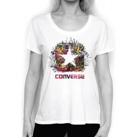 Converse PHOTO SKETCH FILL BOX STAR FEMME TEE - Tricou de damă