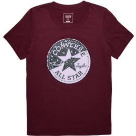 Converse SPLICED LEOPARD CP CREW TEE - Tricou de damă