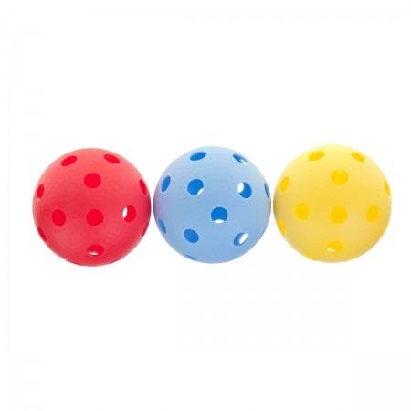 YM-003C - set de 3 mingi pentru floorball - Kensis YM-003C