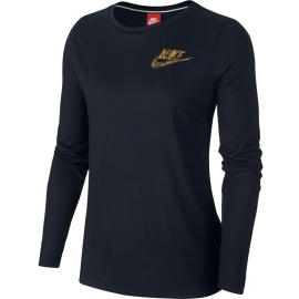 Nike NSW ESSNTL TOP LS METALLC W - Top de damă