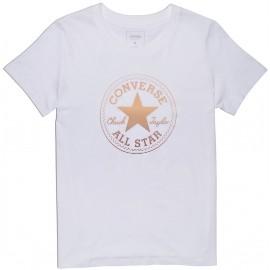 Converse CLEAR FOIL CHUCK PATCH CREW - Tricou de damă