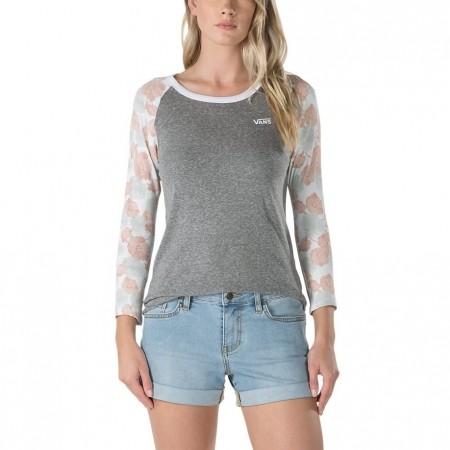 Tricou damă cu mâneci lungi - Vans POPPY DREAM RAGLAN - 1