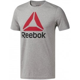Reebok QQR-REEBOK STACKED - Tricou sport bărbați