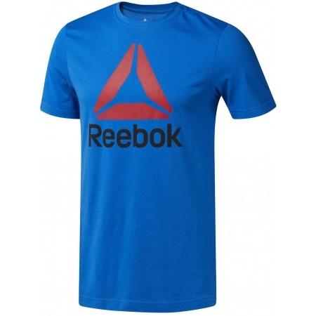 Tricou sport bărbați - Reebok QQR-REEBOK STACKED - 1