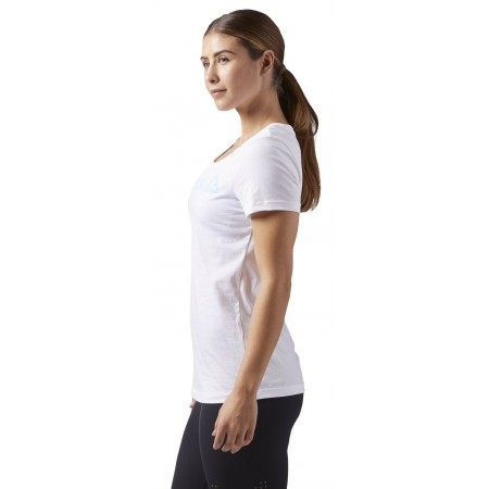 Tricou sport damă - Reebok LINEAR READ SCOOP NECK - 3