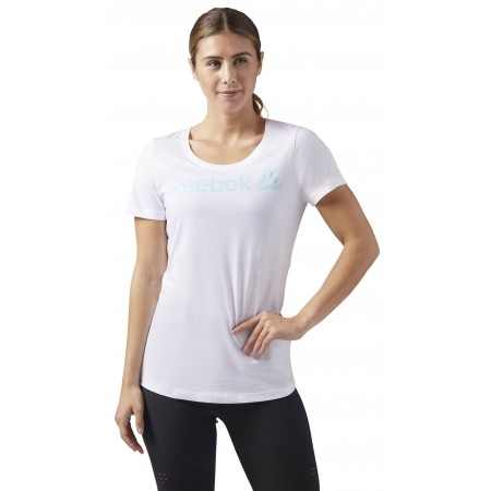 Tricou sport damă - Reebok LINEAR READ SCOOP NECK - 1