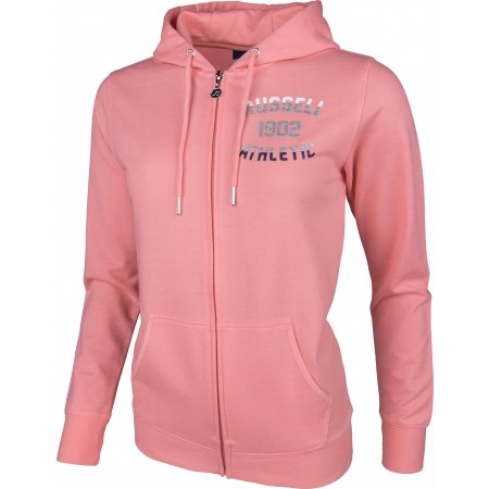 Hanorac damă - Russell Athletic ZIP THROUGH HOODY WITH MIXED DUAL TECHNIQUE PRINT - 1