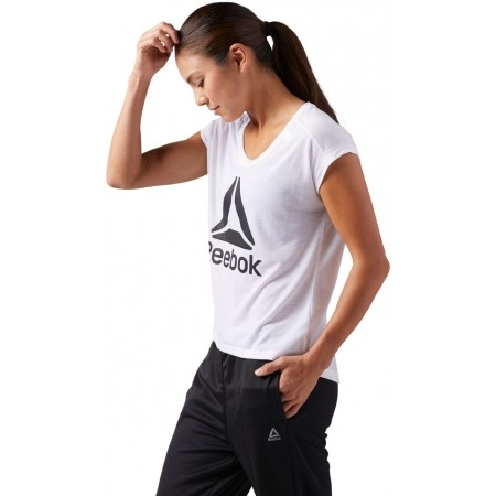 Tricou sport damă - Reebok WOR SUPREMIUM 2.0 TEE BIG - 2