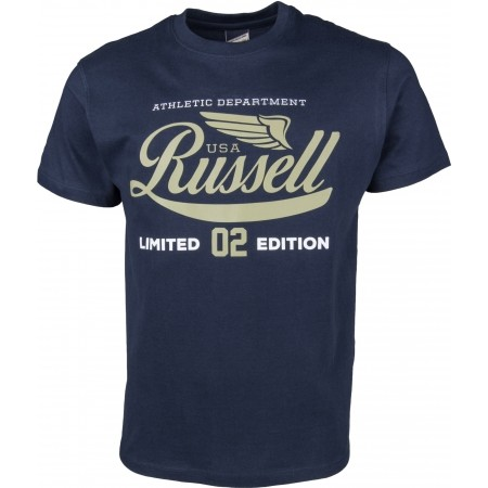 Tricou de bărbați - Russell Athletic S/S NECK CREW RA PRINT - 1