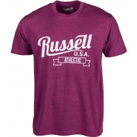 Russell Athletic S/S CREW NECK TEE WITH SCRIPT STYLE PRINT