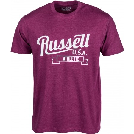 Tricou de bărbați - Russell Athletic S/S CREW NECK TEE WITH SCRIPT STYLE PRINT - 1