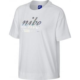 Nike SPOSTSWEAR TOP CROP METALLIC - Tricou de damă