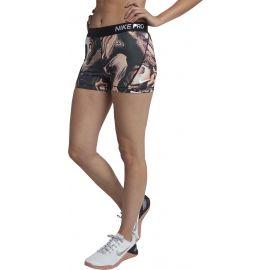 Nike PRO SHORT 3IN CORAL PRINT - Pantaloni scurți sport de damă