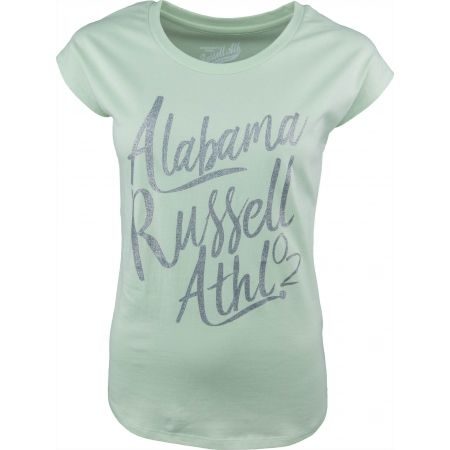 Tricou de damă - Russell Athletic S/S LOGO GREEN TEE - 1