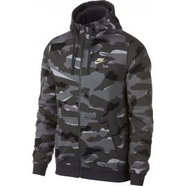 Nike M NSW CLUB CAMO HOODIE FZ FT - Hanorac bărbați