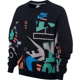 Nike W NSW CREW FLC AOP IDJ - Hanorac damă